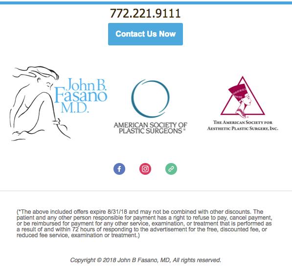 Contact Dr. John Fasano For Summer Savings